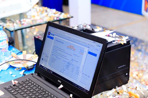 Hóa đơn mẫu được phát hành thông qua hệ thống HĐĐT của Petrolimex